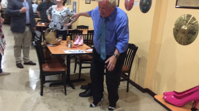 Chief Political Reporter Mark Curtis Wears High Heels for a Good Cause