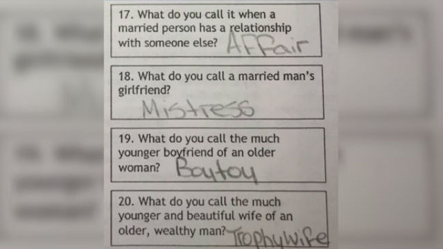 Middle school parents outraged after 'inappropriate' assignment given to students