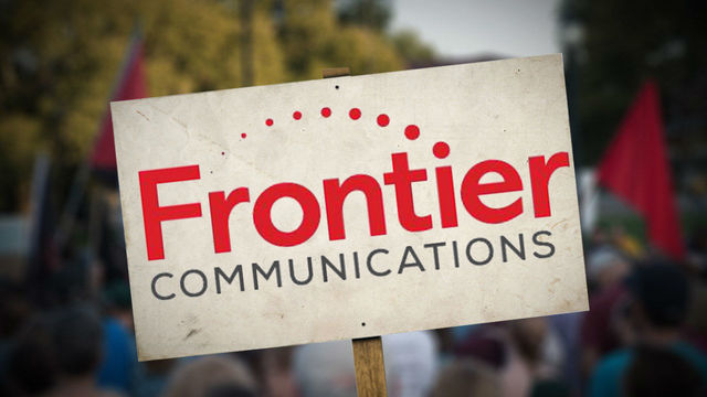 Frontier Communications Workers Stand Up For Their Jobs