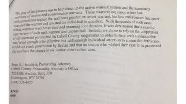 Questions arise concerning unexecuted misdemeanor warrants being