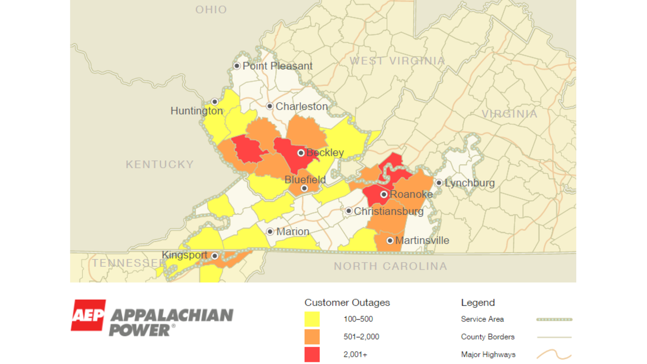 Thousands without power across West Virginia after Friday storms on northwestern energy outage map, duquesne light outage map, entergy arkansas outages map, appalachian power service map, appalachian power outage rainelle wv december 8 2013, time warner outage map, appalachian power outages in wv, atlantic city electric outage map, aep outage map, ice storm outage map, detroit edison outage map, appalachian power service area, austin energy outage map, appalachian power outages update, aep texas map,