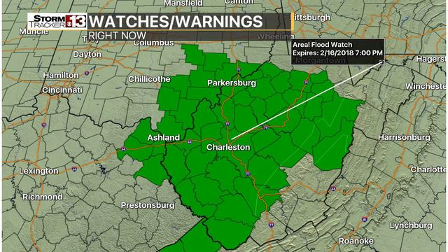 Flood watch to remain in effect for West Virginia Ohio and