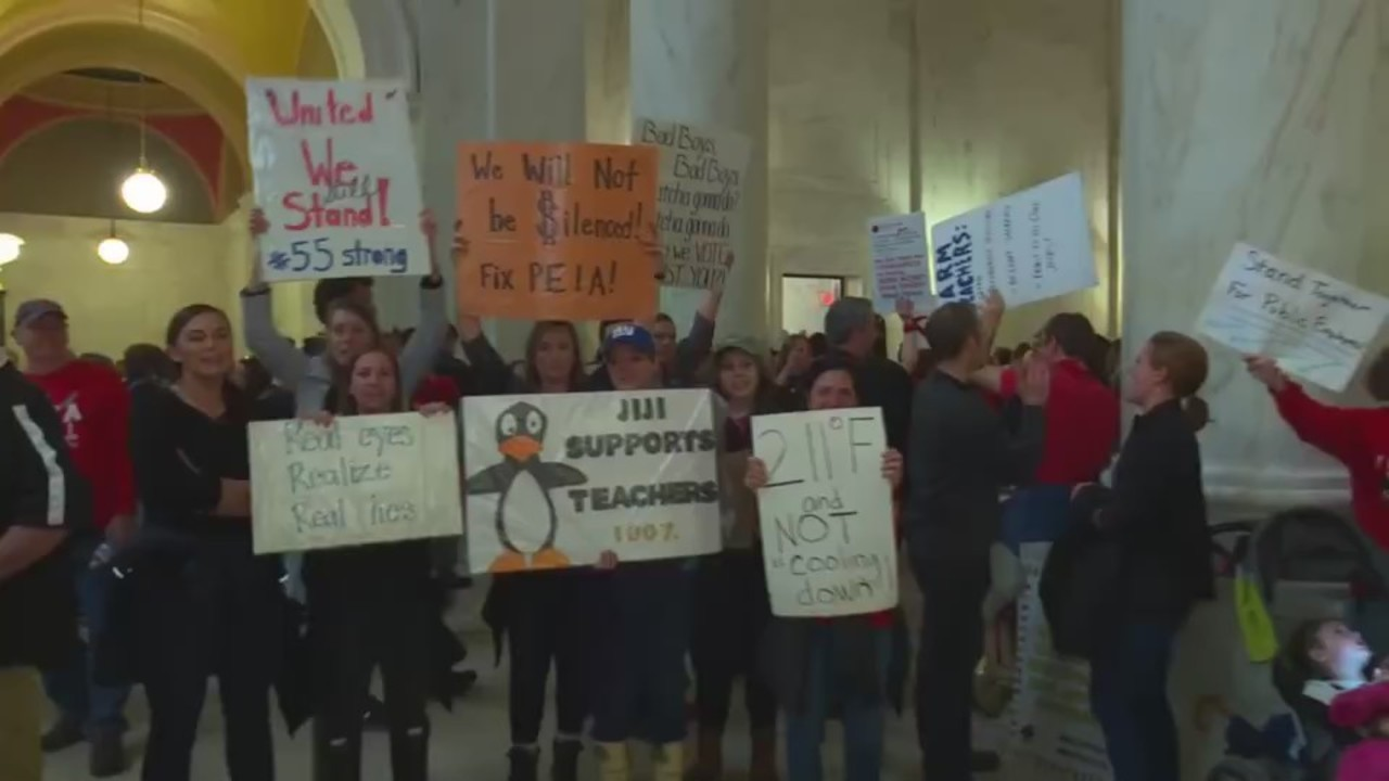 Wv Teachers Still At Capitol Day After Governor Announces Deal