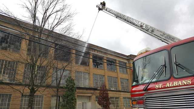 Former St. Albans Jr. High School is on Fire