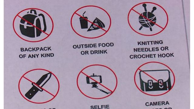 Several items prohibited at high school basketball tournament in Charleston, WV