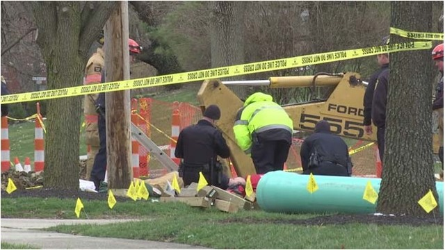 Two hospitalized after trench collapse in Ohio