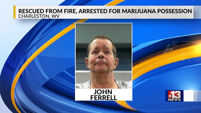 Charleston Man Rescued from Fire, Arrested for Marijuana & Firearm Possession