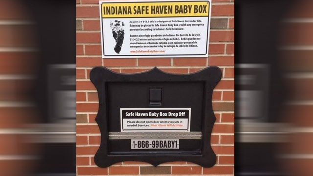 First responders react to finding baby in Safe Haven Baby Box