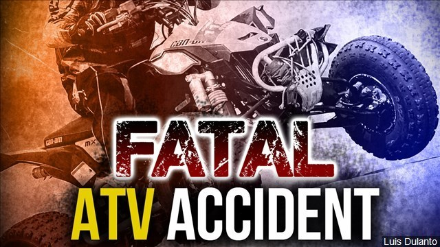Teen passenger on ATV falls from vehicle and hits head; dies