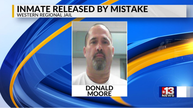 Cabell County inmate released from jail by mistake