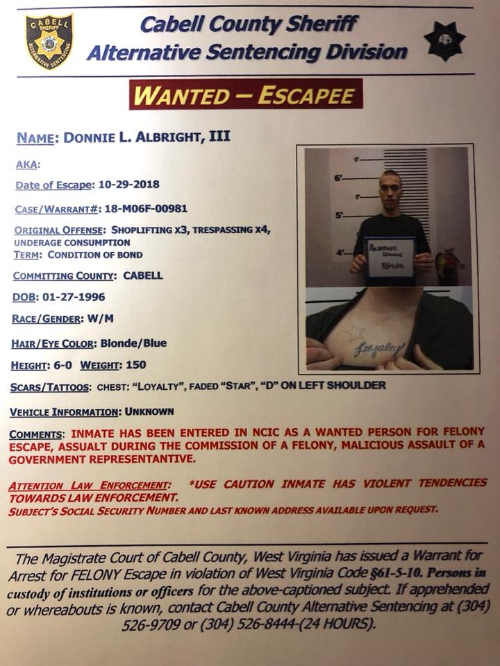 Armed & Dangerous Escapee Captured in Huntington