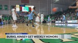 Burks, Kinsey Named Conference Players of the Week